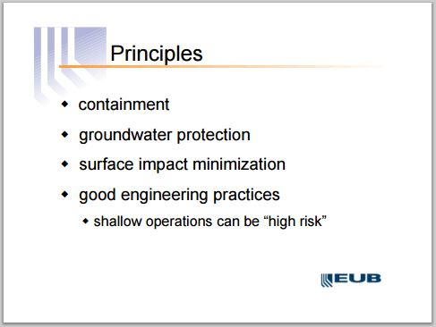 2004 05 12 AER, then EUB, Manager Jim Reid presentation on high risk shallow frac operations 2