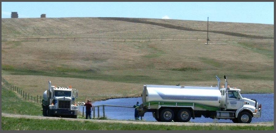 2005 Encana taking water for fracing at Rosebud Alberta