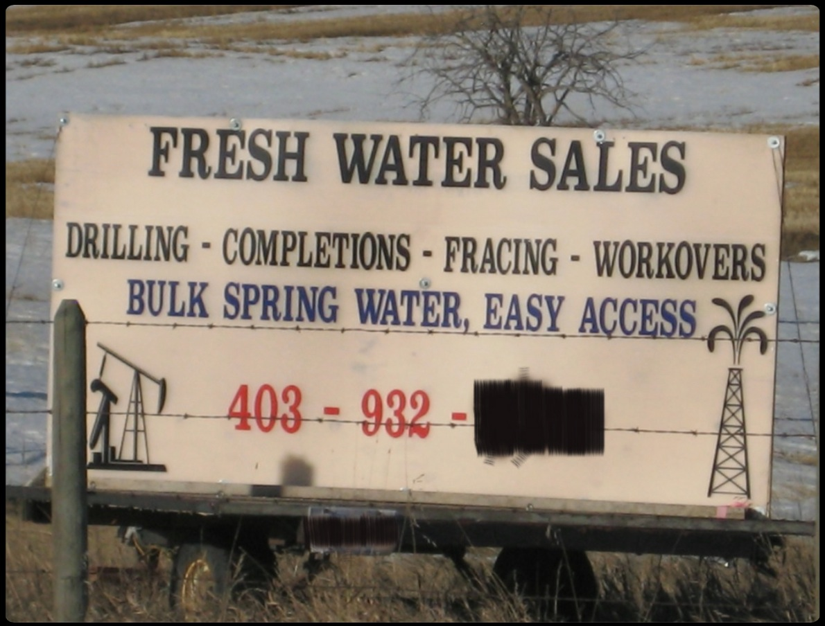 2012 Alberta Water For Sale