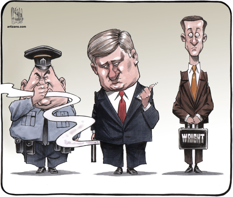 2013 Stephen Harper blames Nigel Wright for his flatulence