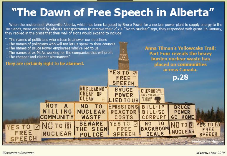 2010 April The Dawn of Free Speech in Alberta in Watershed Sentinel