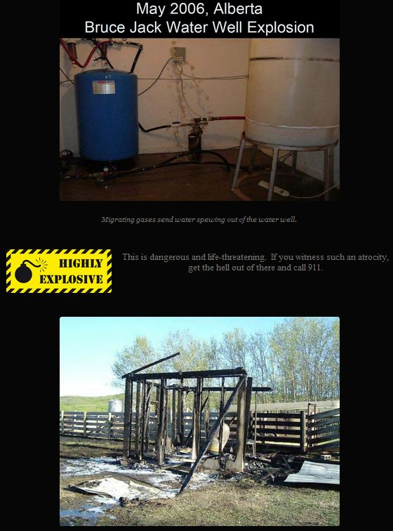 2006 05 Spirit River Alberta Bruce Jack & 2 Industry Gas in Water Testers Seriously Inured in Contaminated Water Explosion