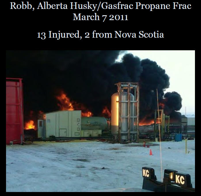 2011 03 07 gasfrac explosion 13 injured edson AB