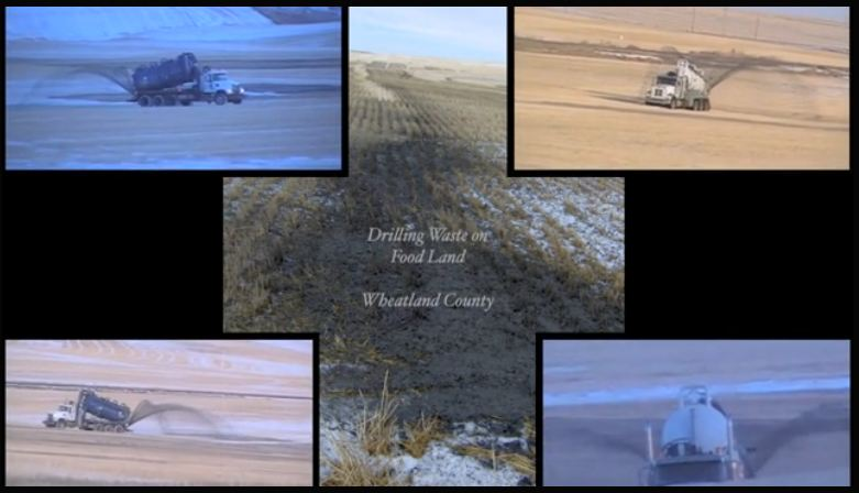 2012 Drilling Waste on Food Land in Wheatland County Alberta 1 in short film Home by FrackingCanada