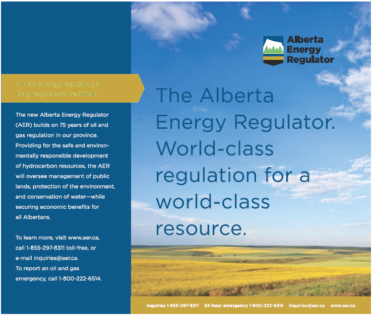 2013 06 25 Alberta Energy Regulator ad in Rockyview Weekly