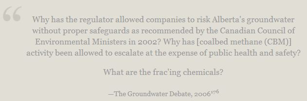 2006 Nikiforuk Quote The Groundwater Debate