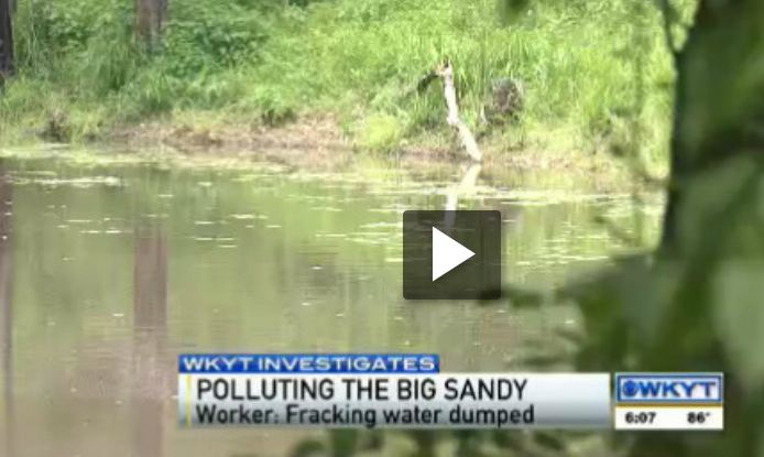 2013 07 08 Frack waste dumping in the Big Sandy River