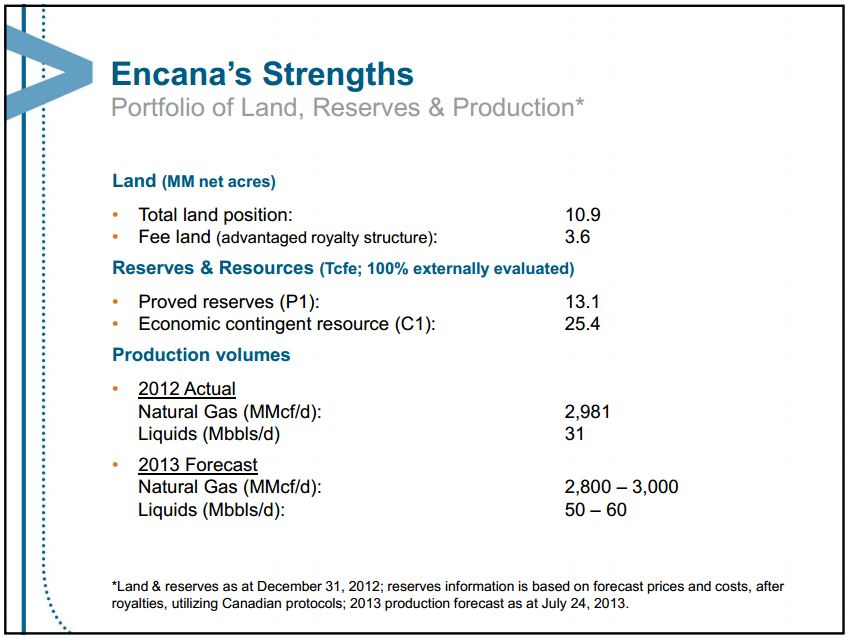 2013 07 24 Encana's liquid rich strengths