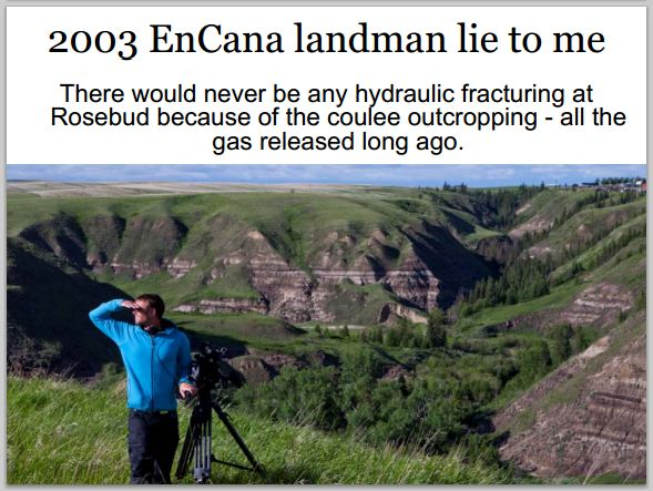 2003 Encana landman lie to Ernst