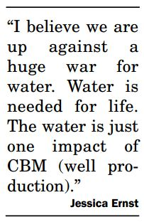 2006 03 14 Jessica Ernst on hydraulic fracturing CBM I believe we are up against a huge war for water