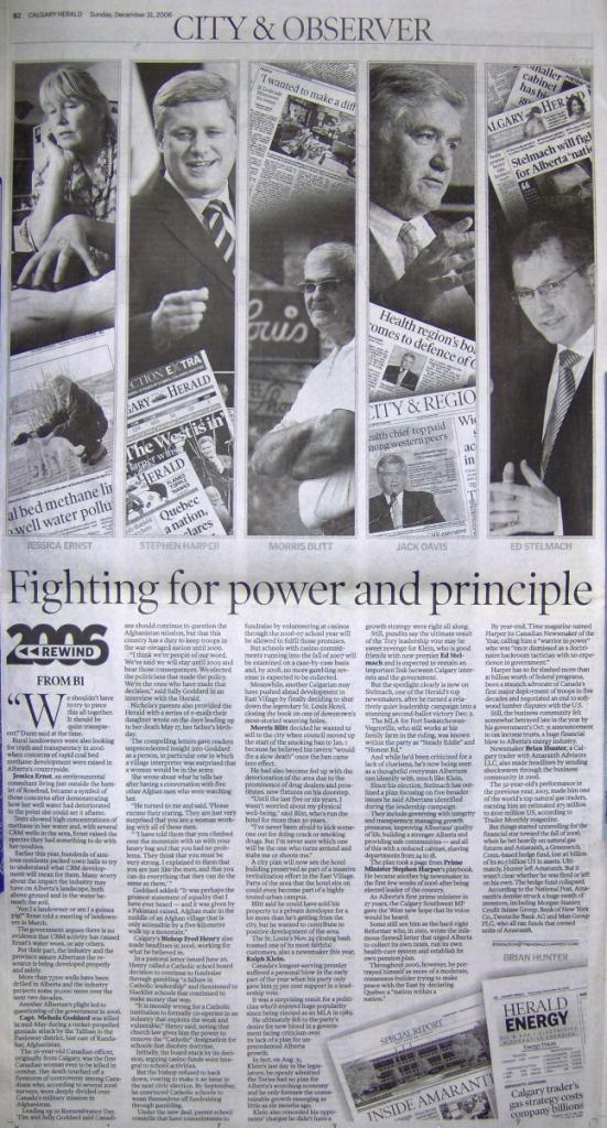 2006 12 31 Calgary Herald's Top Ten Newsmakers of 2006 Part 2.JPG