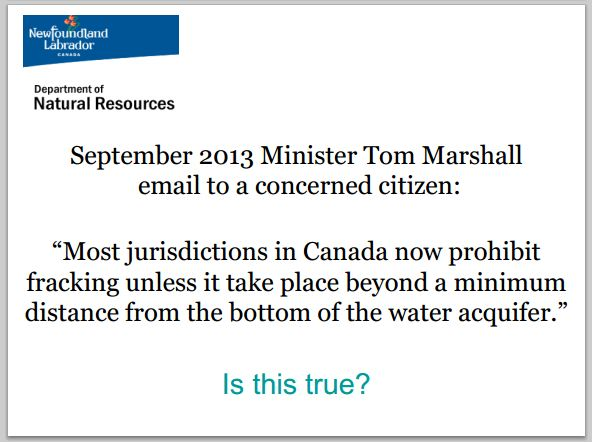 2013 09 22 Nfld Minister Marshall email to concerned citizen