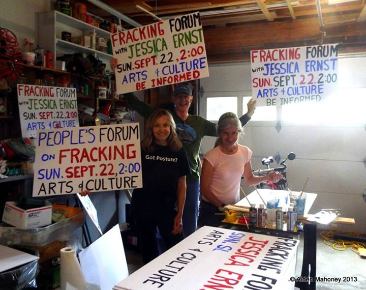2013 Making signs for the People's Forum in Stephenville Newfoundland