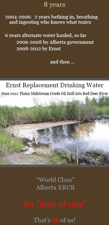 Ernst vs Encana drinking water contamination after hydraulic fracturing of Rosebud aquifers
