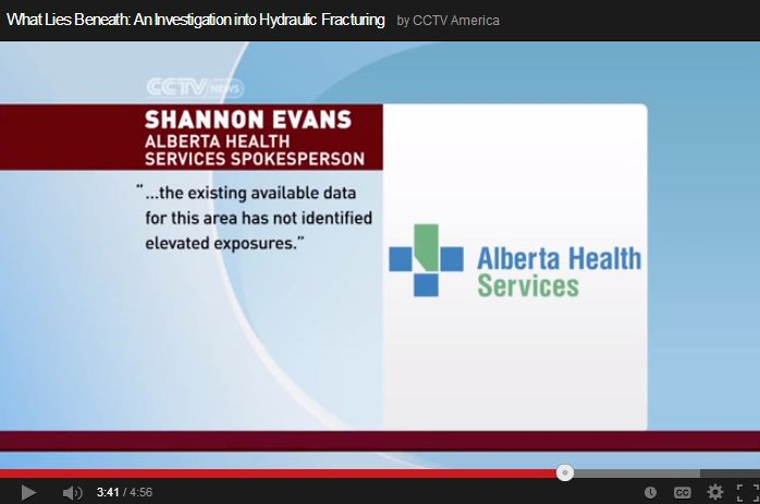 2013 10 11 CCTV What lies beneath Frac Alberta Health Services says available data has not identified elevated exposures 5