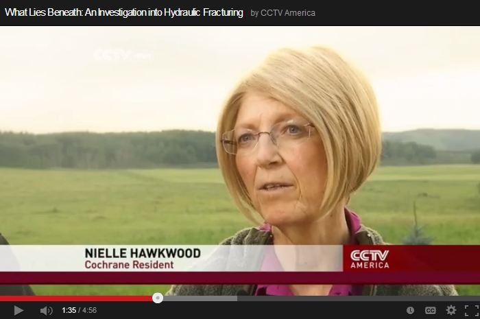 2013 10 11 CCTV What lies beneath Frac Health Impacts Nielle Hawkwood Cochrane Alberta 2