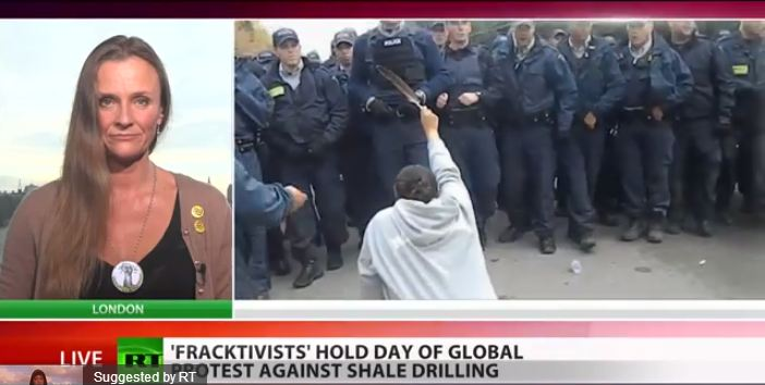 2013 10 19 RT interviews Vanessa Vine about global frack protests