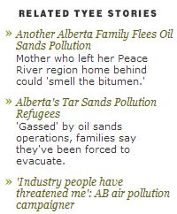 2013 10 24 Alberta Toxic Air and Cancers Snap Tyee Related Articles