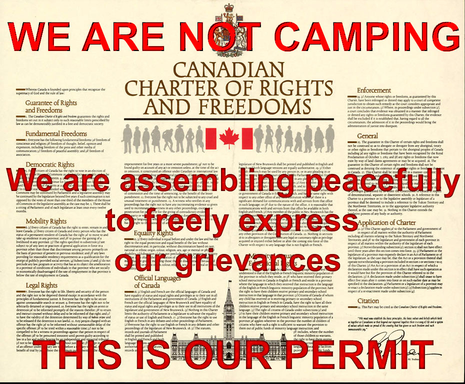 Canadian Charter of Rrights and Freedoms OUR PERMIT we-are-not-camping