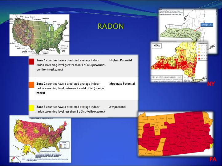 2013 Radon and fracking High Risk areas in USA Larysa Dyrszka MD