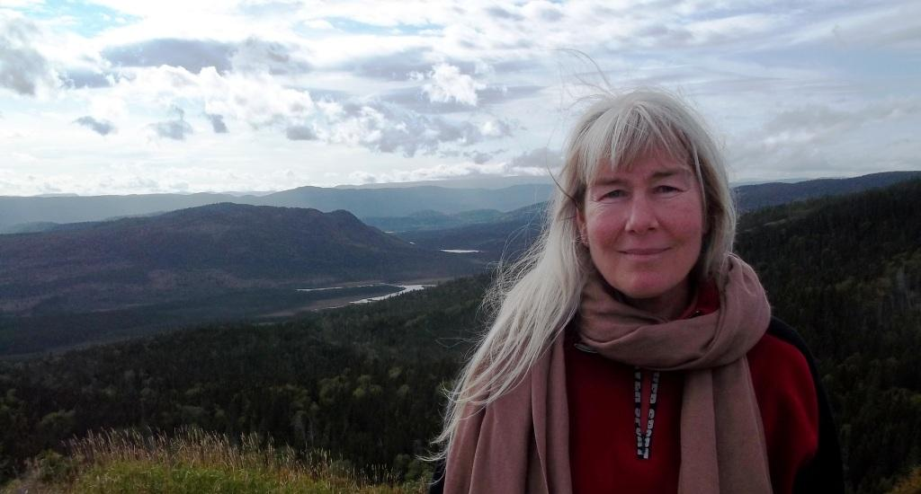 2013 09 19 Jessica Ernst touring Gros Morne UNESCO World Heritage Site before People's Forum on Fracking in Stephenville