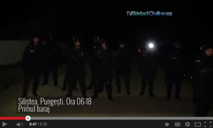 2013 12 02 Chevron uses riot police to harm concerned citizens Pungesti