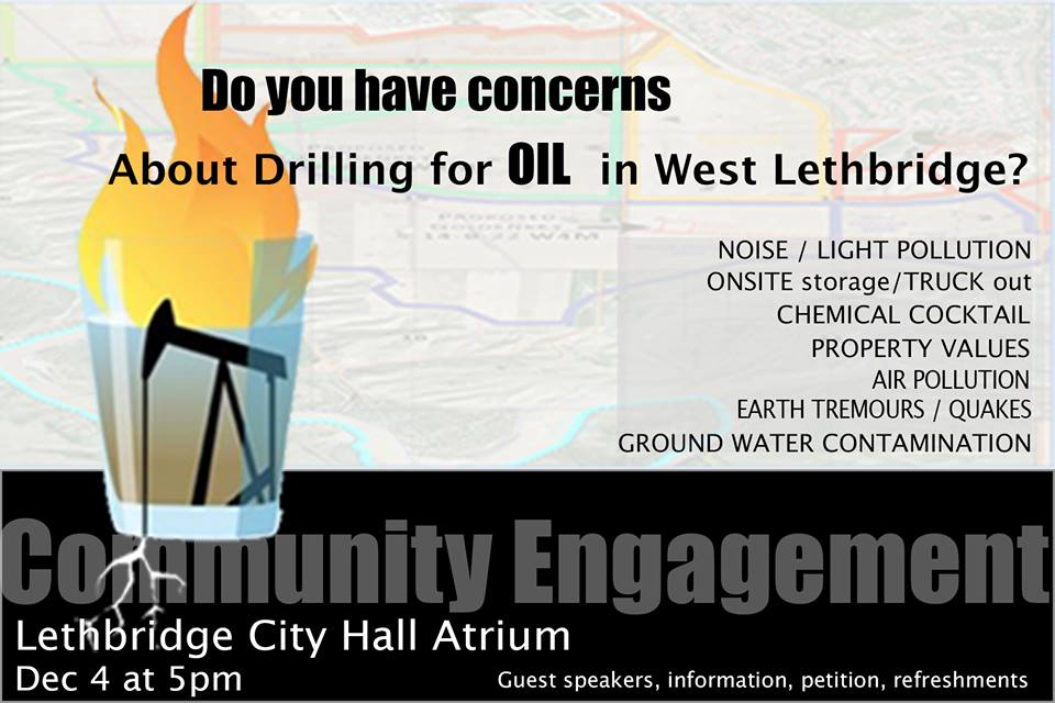 2013 12 05 Community Engagement - Drilling and Fracing in Lethbridge