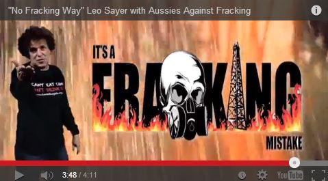 2013 12 19 No Fracking Way Leo Sayer on CBM coal seam gas 6