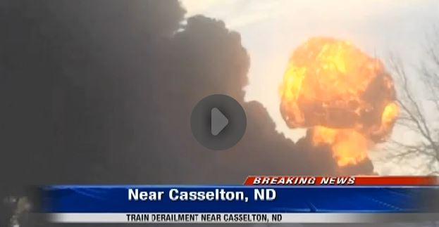 2013 12 30 North Dakota train derailment fire explosions possibly Bakken crude