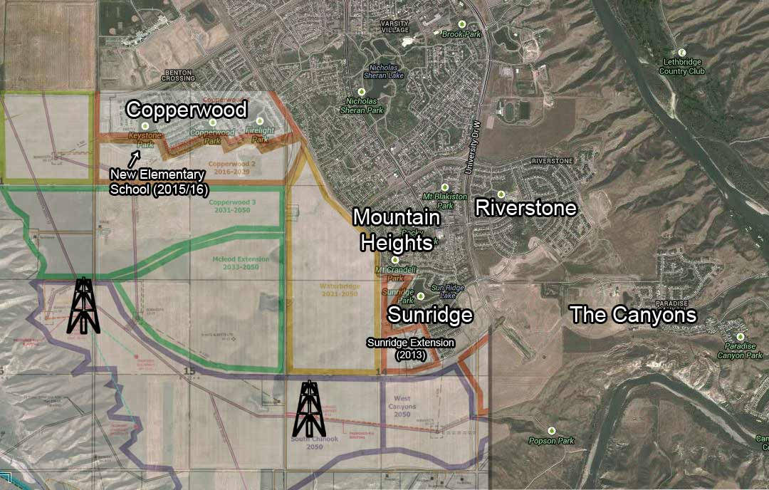 2013 12 Goldenkey Oil Inc locations near elementary school within city limits Lethbridge