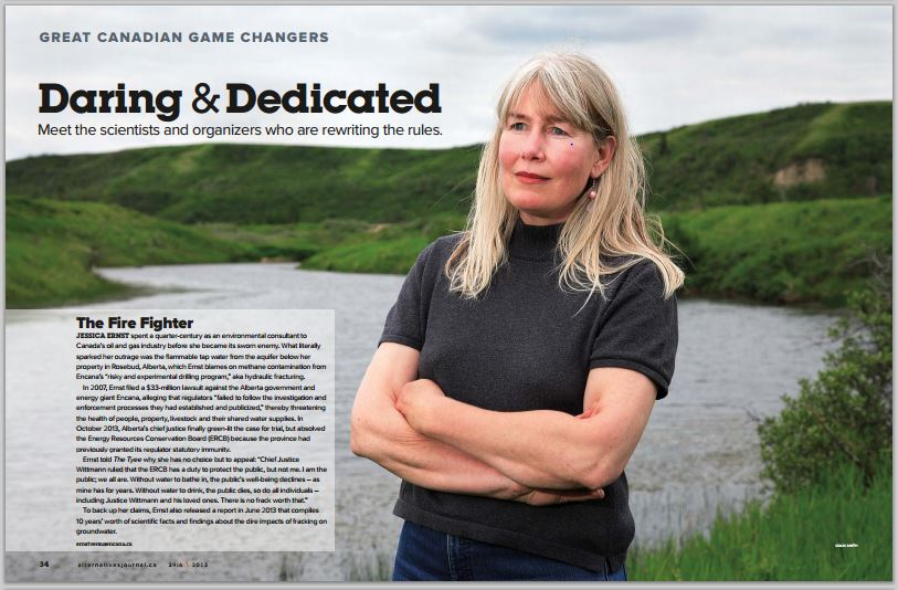 2013 12 Great Canadian Game Changers in Alternatives Journal