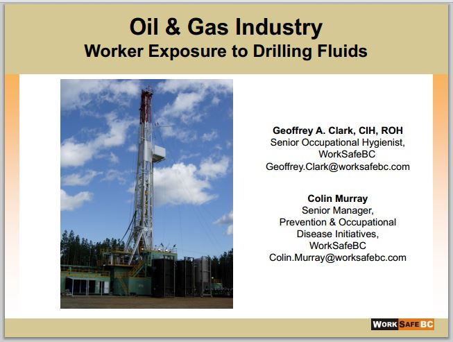 2014 06 24 Oil & Gas Industry Worker Exposure to Drilling Fluids
