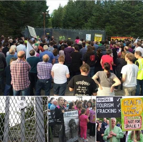 2014 07 21 Fremanagh protests Fracing Tamboran