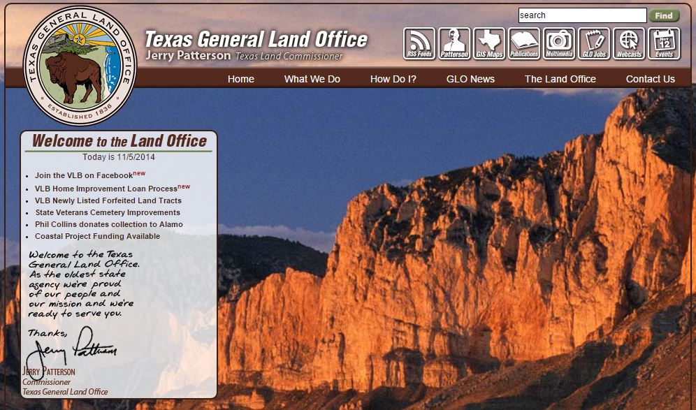 2014 11 05 Texas General Land Office snap