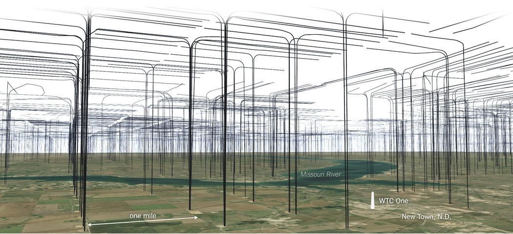 2014 11 North Dakota fracs from above ground view 1