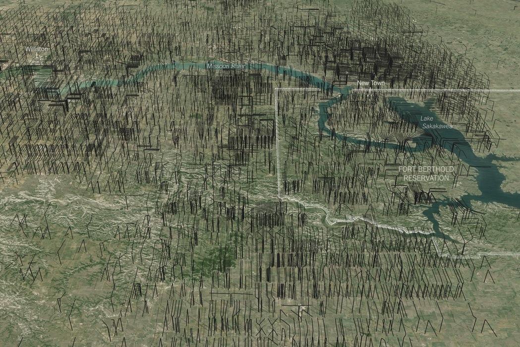 2014 11 North Dakota fracs from above ground view 2