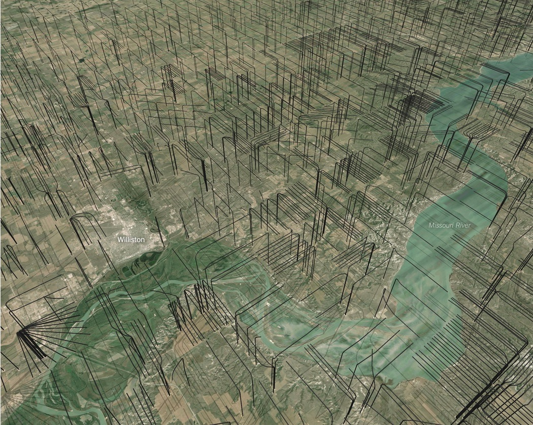 2014 11 North Dakota fracs from above ground view 3