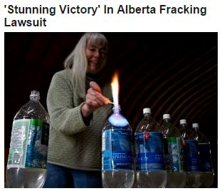 2014 12 09 Snap from Headlines Huffingtonpost.ca Govt will not appeal 'Stunning Victory' Ernst vs Alberta Environment