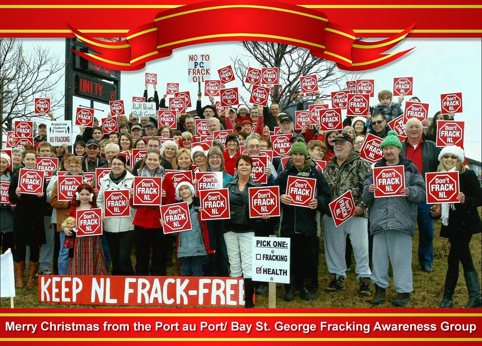 2014 merry christmas, NEWFOUNDLAND LABADOR, no to PC frack oil, don't frack NL