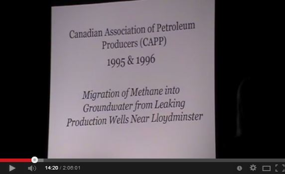 2012 Ernst talk in Leitrim County Republic of Ireland slide of CAPP Gas Migration into Groundwater Study