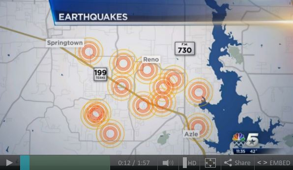 2014 01 22 Earth quakes in frac waste injection areas of N Texas