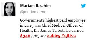2014 01 31 Alberta Chief Medical Officer of Health is governments highest paid employee in 2013