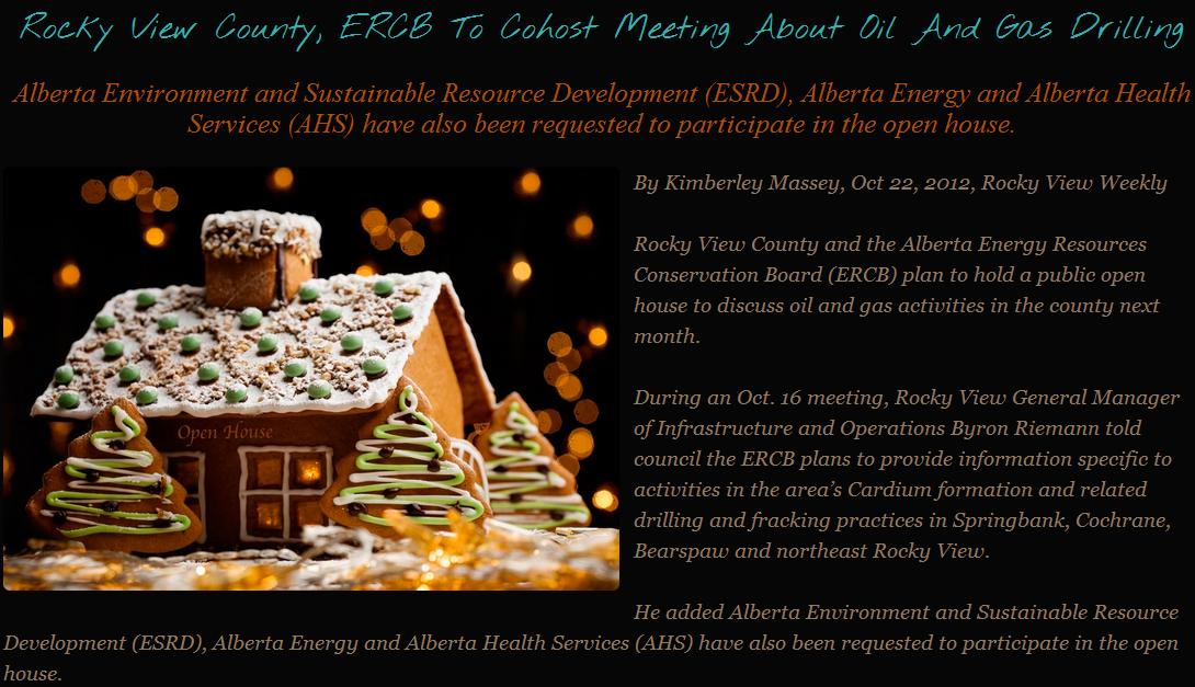 2012 10 22 Alberta Health Invited to present to frac'd citizens at Cochrane