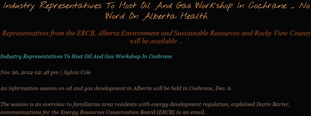 2012 11 28 No word on Alberta Health