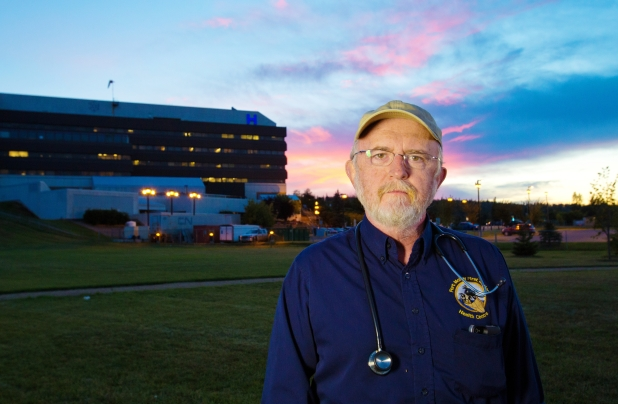 2013 09 09 Dr John Oconnor outside hospital in fort mcmurray