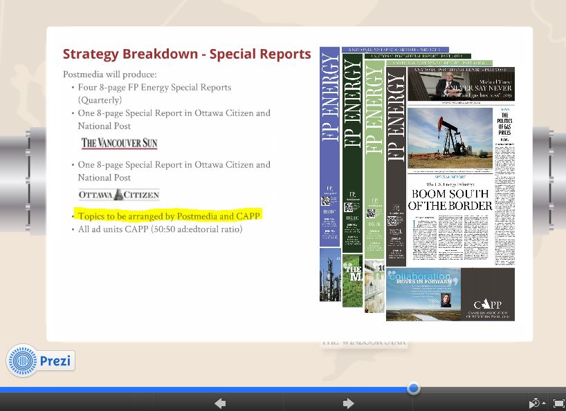 2014 02 05 Screen capture Oil and Gas industry & CAPPs Canadian Media Control 2