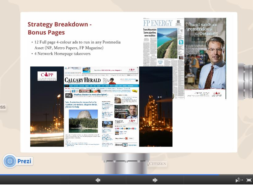 2014 02 05 Screen capture Oil and Gas industry & CAPPs Canadian Media Control