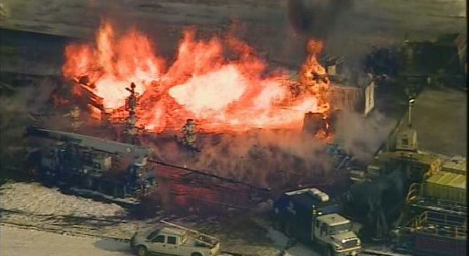 2014 02 11 Gas well explosion in green co pennsylvania photo