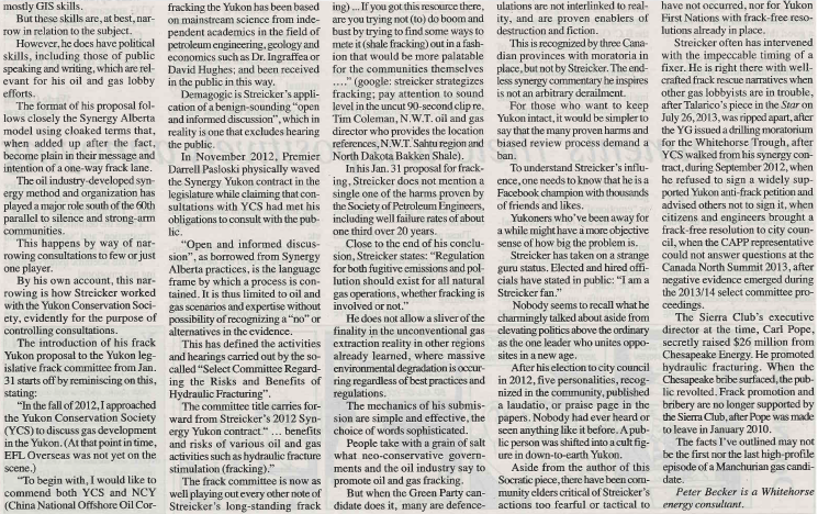 2014 02 19 Where is the Green Party on Fracking by Peter Becker snap pg2