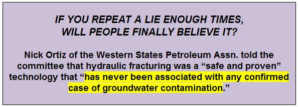 2014 02 25 the lie again, to LA city council frac ban committee